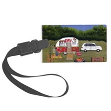 Summer Camping Luggage Tag