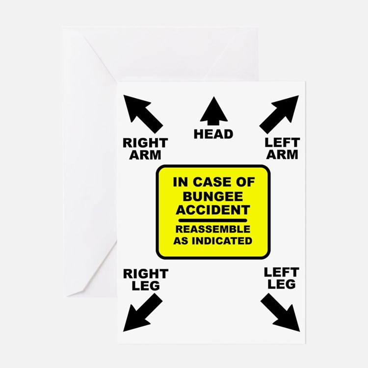 Reassemble Bungee Jumping Funny T-Sh Greeting Card