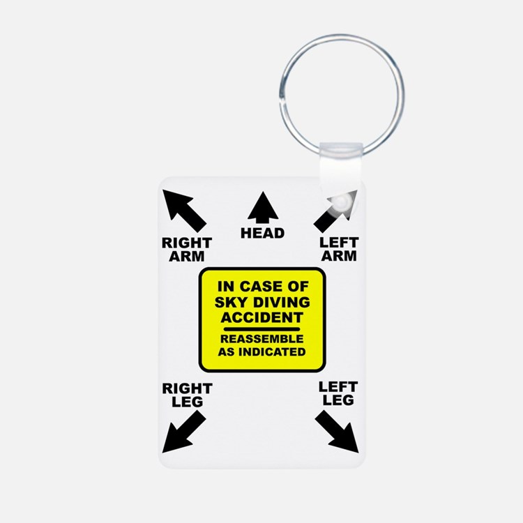 Reassemble Sky Diving Para Keychains