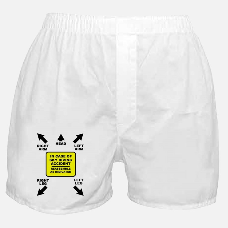 Reassemble Sky Diving Parachute Funny Boxer Shorts