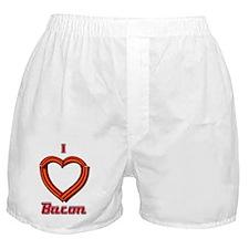 I Heart Bacon Boxer Shorts