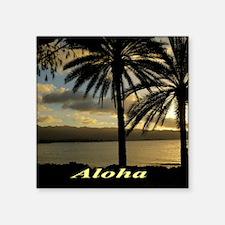 "Sunset North Shore Oahu Square Sticker 3"" x 3"""