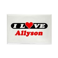 I Love Allyson Rectangle Magnet