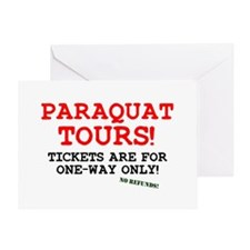 POISON - PARAQUAT TOURS. Greeting Card