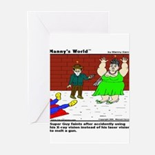 SUPERGUY FAINTS! Greeting Cards (Pk of 10)