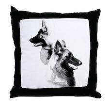 Terv Charcoal2 Throw Pillow