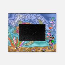 Sea Turtle Sea Horse Art Picture Frame