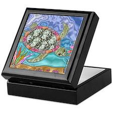 Sea Turtle Sea Horse Art Keepsake Box