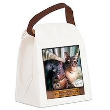 Burmese cat siblings, 2 Canvas Lunch Bag