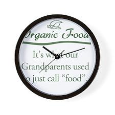 Organic Food Wall Clock