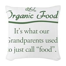 Organic Food Woven Throw Pillow