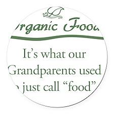 Organic Food Round Car Magnet