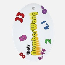 Numberwang Case Oval Ornament