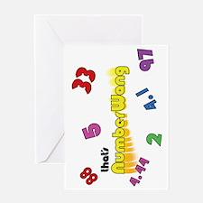 Numberwang Case Greeting Card
