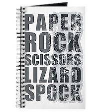 paper rock scissors lizard spock Journal