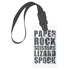 paper rock scissors lizard spock Luggage Tag