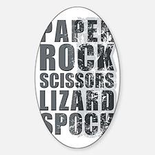 paper rock scissors lizard spock Sticker (Oval)