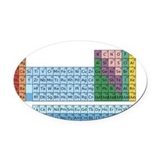 Sherlocks Periodic Table Mug Oval Car Magnet