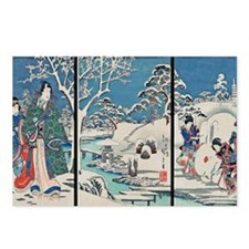 Garden In Snow Hiroshige Postcards (Package of 8)
