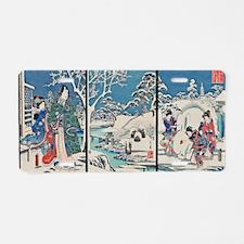Garden In Snow Hiroshige Aluminum License Plate