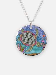 Sea Turtle Sea Horse Art Necklace