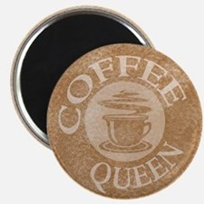 Coffee Queen Stamp Logo Magnet
