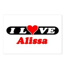 I Love Alissa Postcards (Package of 8)