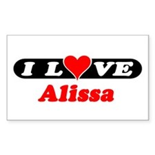I Love Alissa Rectangle Decal