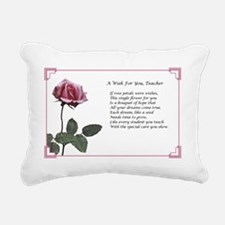 A Wish For You, Teacher Rectangular Canvas Pillow
