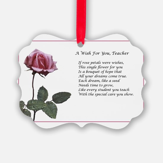 A Wish For You, Teacher Ornament