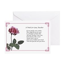A Wish For You, Teacher Greeting Card