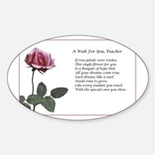 A Wish For You, Teacher Decal