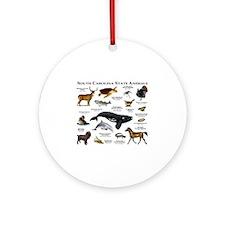 South Carolina State Animals Round Ornament