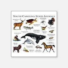 "South Carolina State Animal Square Sticker 3"" x 3"""