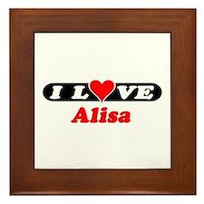 I Love Alisa Framed Tile