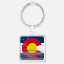 Colorado Old Paint Square Keychain