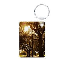 Trees and street light Keychains
