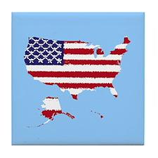 USA Flag 50 Tile Coaster