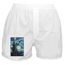 Van Gogh Starry Night Impressionist Boxer Shorts