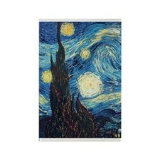 Van Gogh Starry Night Impressioni Rectangle Magnet