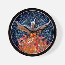 Phoenix Rising Square Lt Wall Clock