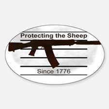 Protecting the Sheep - Since 1776 Sticker (Oval)