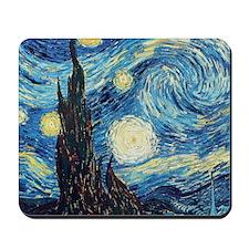 Van Gogh Starry Night Impressionist Mousepad