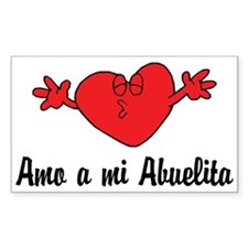 Amo a mi Abuelita Rectangle Decal