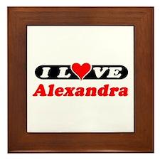 I Love Alexandra Framed Tile