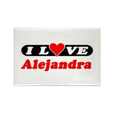 I Love Alejandra Rectangle Magnet