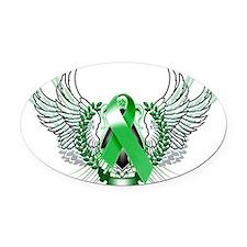Awareness Tribal Green copy Oval Car Magnet