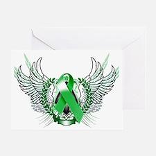 Awareness Tribal Green copy Greeting Card