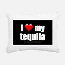 I Love My Tequila wallpe Rectangular Canvas Pillow
