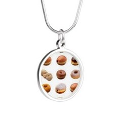 Doughnuts Silver Round Necklace